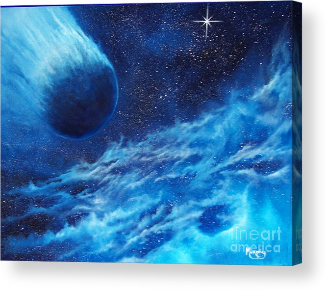 Astro Acrylic Print featuring the painting Comet Experience by Murphy Elliott