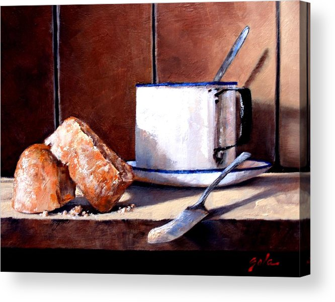 Still Life Acrylic Print featuring the painting Daily Bread Ver 2 by Jim Gola