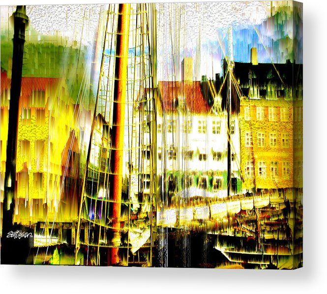 Cityscape Acrylic Print featuring the photograph Danish Harbor by Seth Weaver