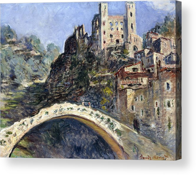 Monet Acrylic Print featuring the painting Dolceacqua by Claude Monet