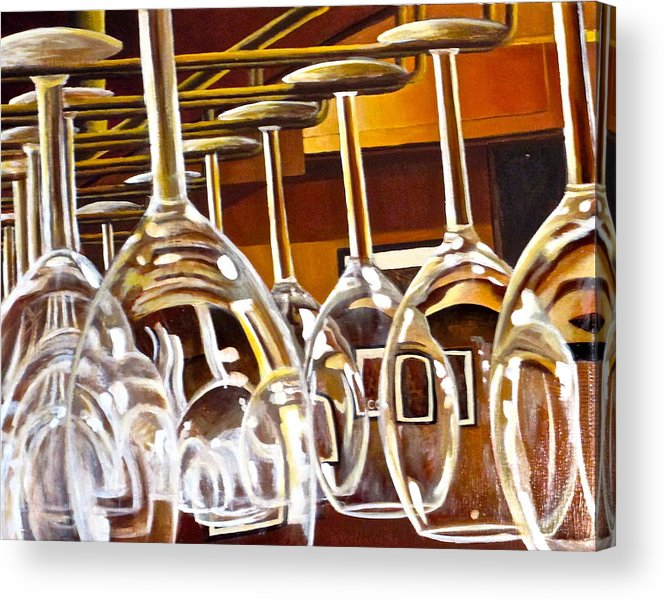 Wine Painting Acrylic Print featuring the painting Fully Stocked by Tim Eickmeier