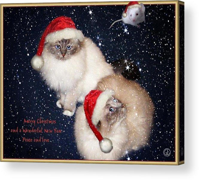 Greeting Card Acrylic Print featuring the digital art Happy Holidays by Gun Legler