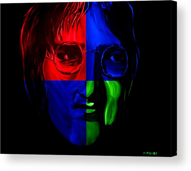 John Acrylic Print featuring the painting Imagine by Mark Moore