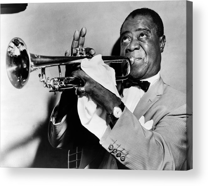 1953 Acrylic Print featuring the photograph Louis Armstrong (1900-1971) by Granger