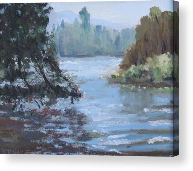 Acrylic Print featuring the painting Marymoor Park Wa by Raymond Kaler