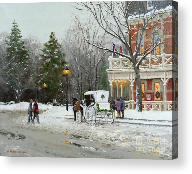 Niagara Carriage Acrylic Print featuring the painting Niagara Carriage By The Prince Of Wales by Michael Swanson