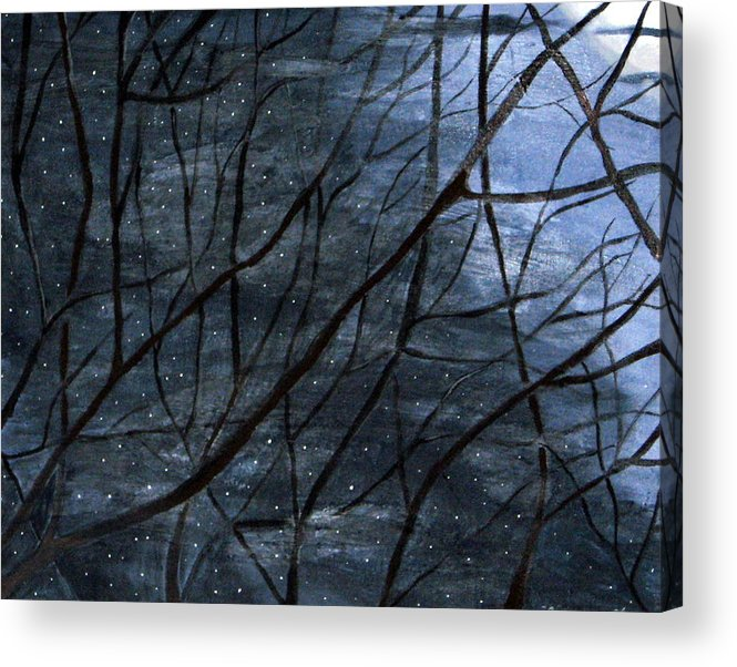 Landscape Acrylic Print featuring the painting Nightlife by Kori Vincent