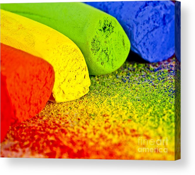 Pastels Acrylic Print featuring the photograph Pastel Chalks by Pattie Calfy