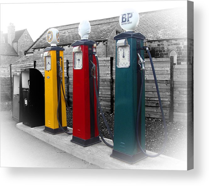 Petrol Station Acrylic Print featuring the photograph Petrol Station by Roberto Alamino