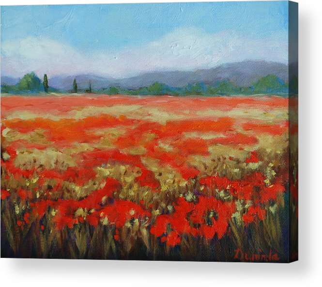 Poppies Acrylic Print featuring the painting Poppy Poetry II by Durinda Cheek
