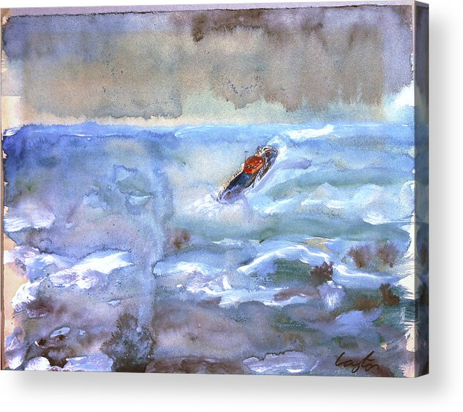Rnli Acrylic Print featuring the painting Rnli by James Layton