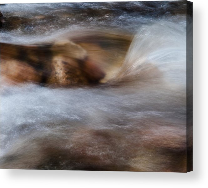 Water Acrylic Print featuring the photograph Rock And Water by Andre Zandona