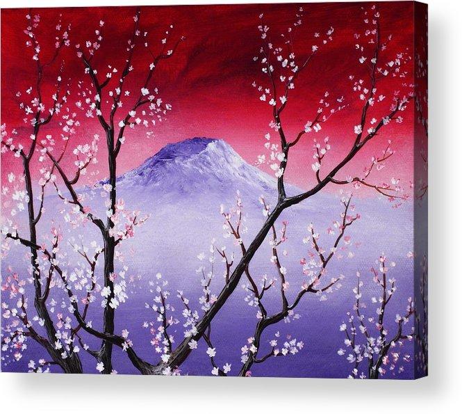 Malakhova Acrylic Print featuring the painting Sakura by Anastasiya Malakhova