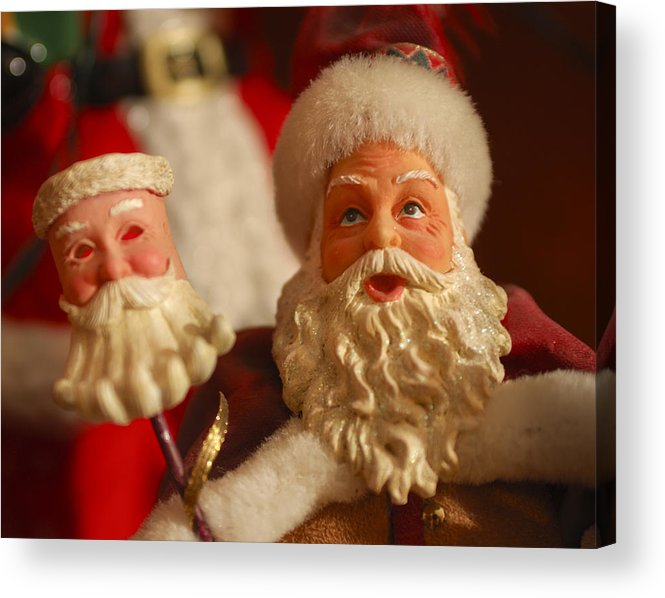 Santa Claus Acrylic Print featuring the photograph Santa Claus - Antique Ornament - 12 by Jill Reger
