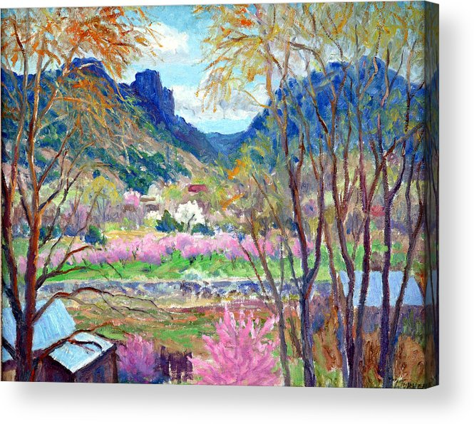 Leona Turner Acrylic Print featuring the painting Side Road Near Toas by Douglas Turner