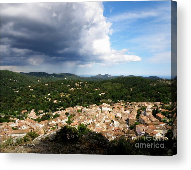 Provence Acrylic Print featuring the photograph Sun And Rain by Lainie Wrightson
