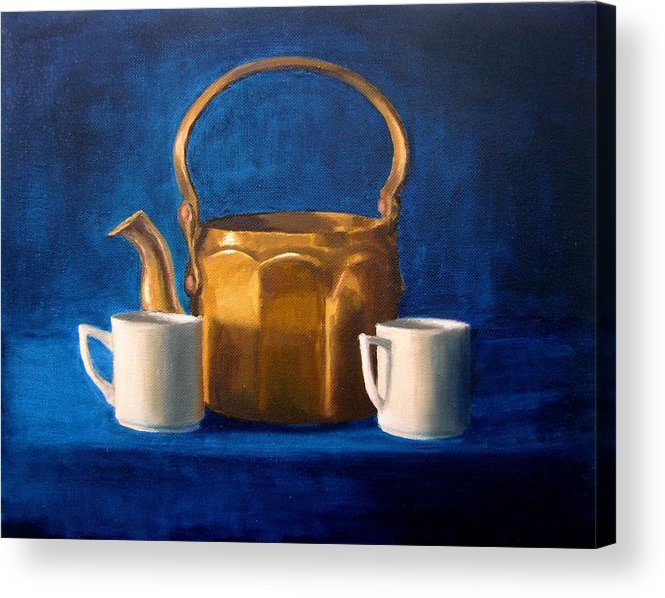 Tea Acrylic Print featuring the painting Tea Time by Janet King