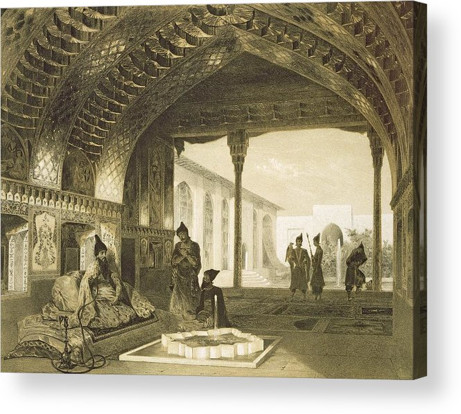 Prince Acrylic Print featuring the drawing The Hall Of Mirrors In The Palace by Grigori Grigorevich Gagarin