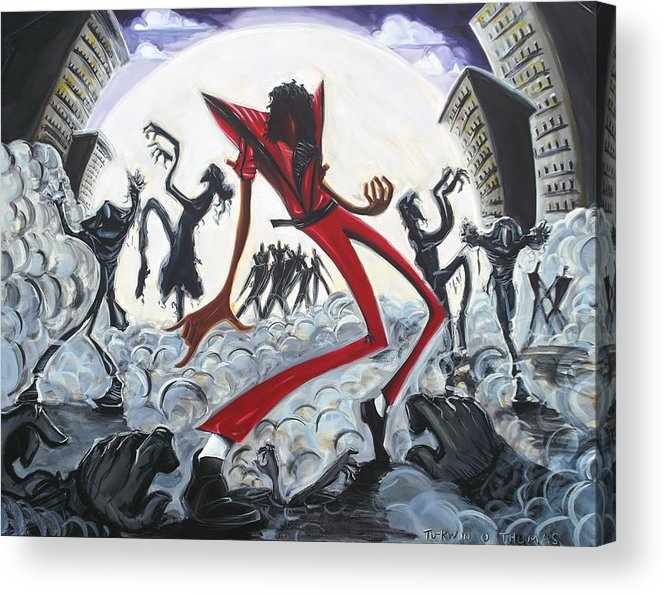 Thriller Acrylic Print featuring the painting Thriller V2 by Tu-Kwon Thomas