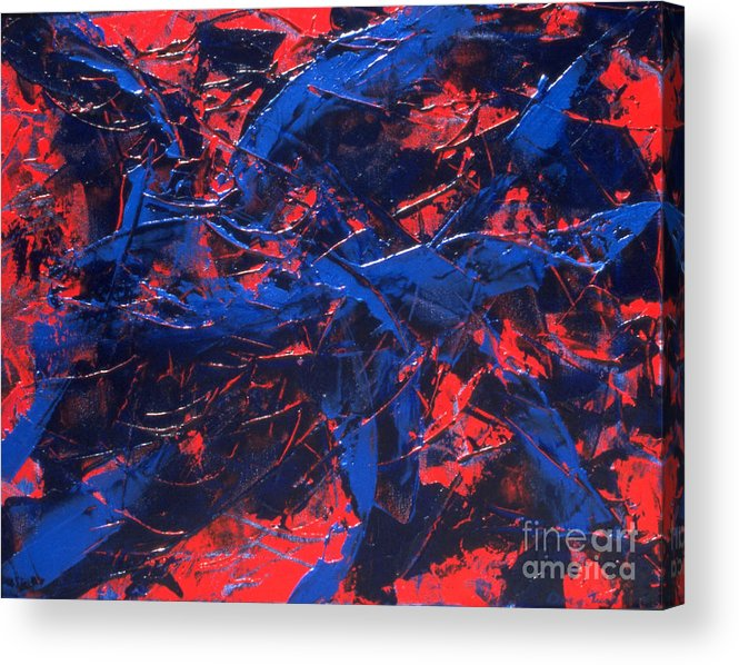 Abstract Acrylic Print featuring the painting Transitions Iv by Dean Triolo