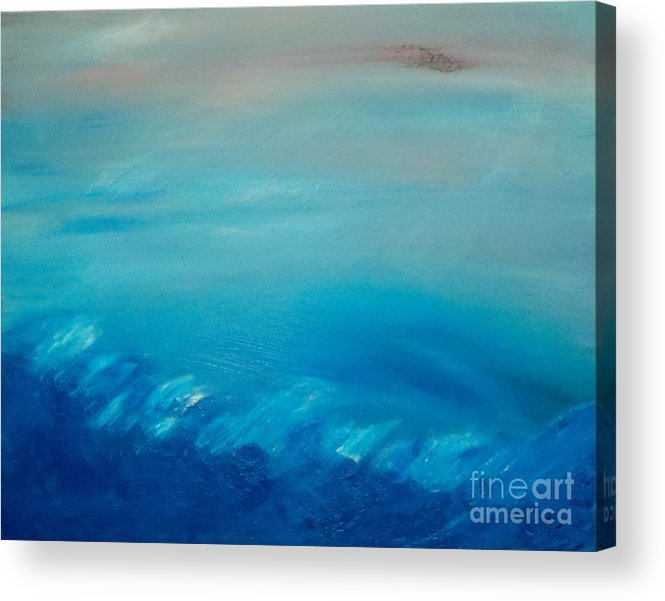 Sea Acrylic Print featuring the painting Truman by Tracy Evans