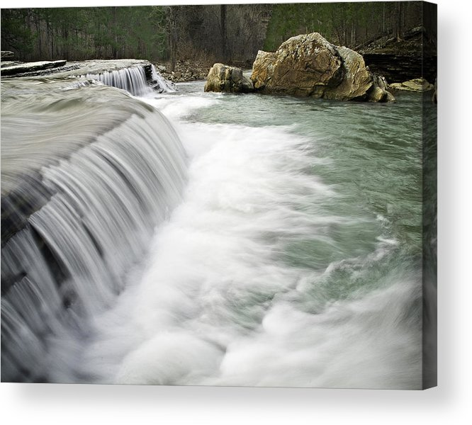 Arkansas Acrylic Print featuring the photograph 0804-0012 Six Finger Falls 1 by Randy Forrester