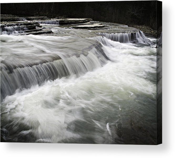 Arkansas Acrylic Print featuring the photograph 0804-0113 Six Finger Falls 2 by Randy Forrester