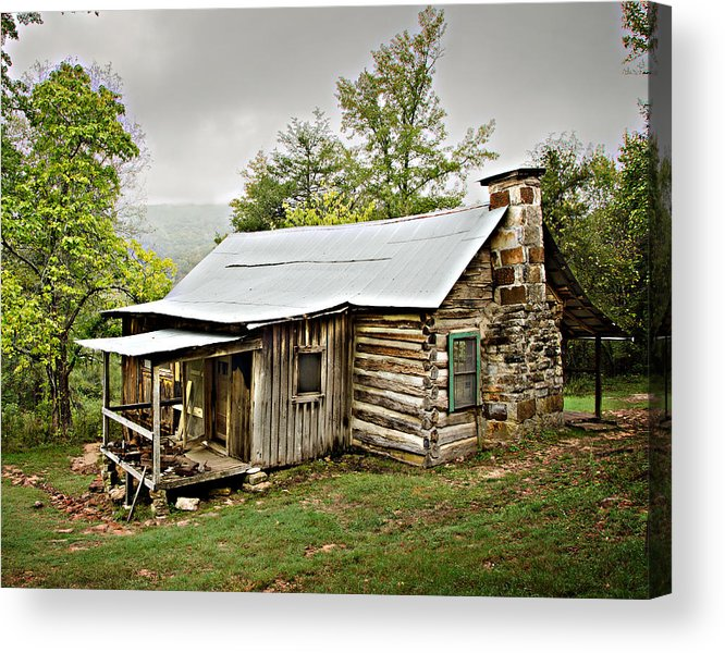 Log Cabin Acrylic Print featuring the photograph 1209-1144 Historic Villines Homestead by Randy Forrester