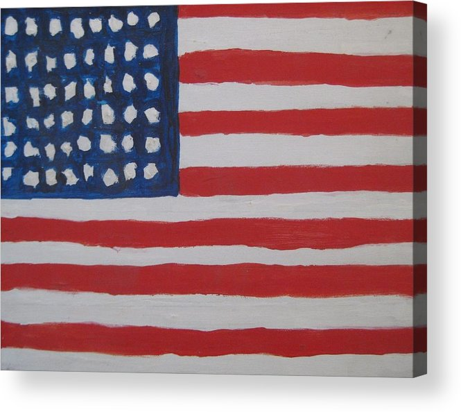 Flag Acrylic Print featuring the painting Untitled by Iris Gill
