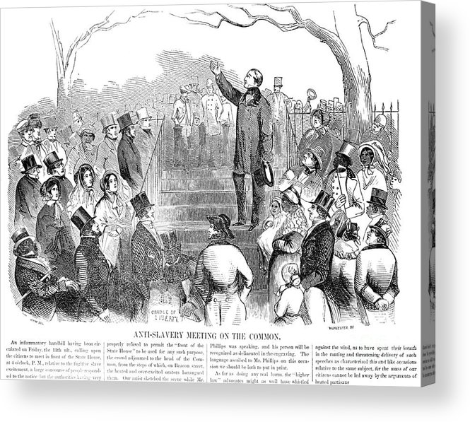 1851 Acrylic Print featuring the photograph Abolition: Phillips, 1851 by Granger
