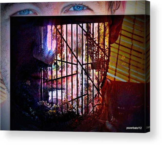 Challenge Acrylic Print featuring the digital art Challenge Enigmatic Imprison Himself by Paulo Zerbato