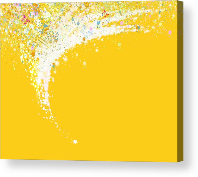 Art Acrylic Print featuring the painting Colorful Curved by Setsiri Silapasuwanchai