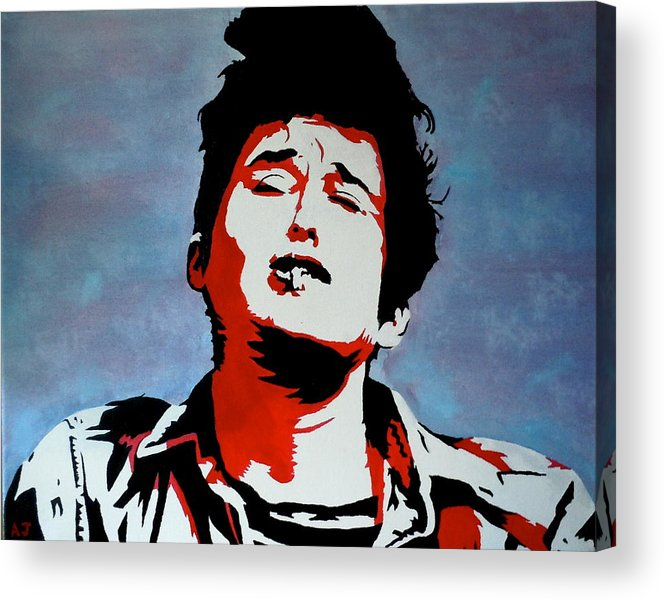 Bob Dylan Acrylic Print featuring the painting Dylan by Austin James