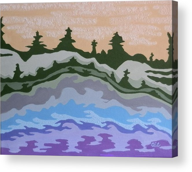 Impression Acrylic Print featuring the painting Evening Impressions by Carolyn Cable