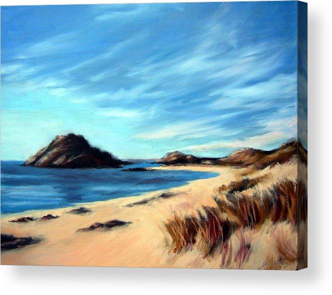 Havik Beach Acrylic Print featuring the painting Havik Beach by Janet King