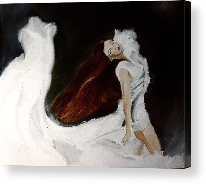 Portrait Acrylic Print featuring the painting Leave A Whisper by James Henderson