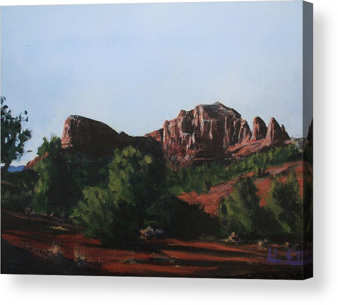 Sedona Acrylic Print featuring the painting Sedona Summer by Adam Smith