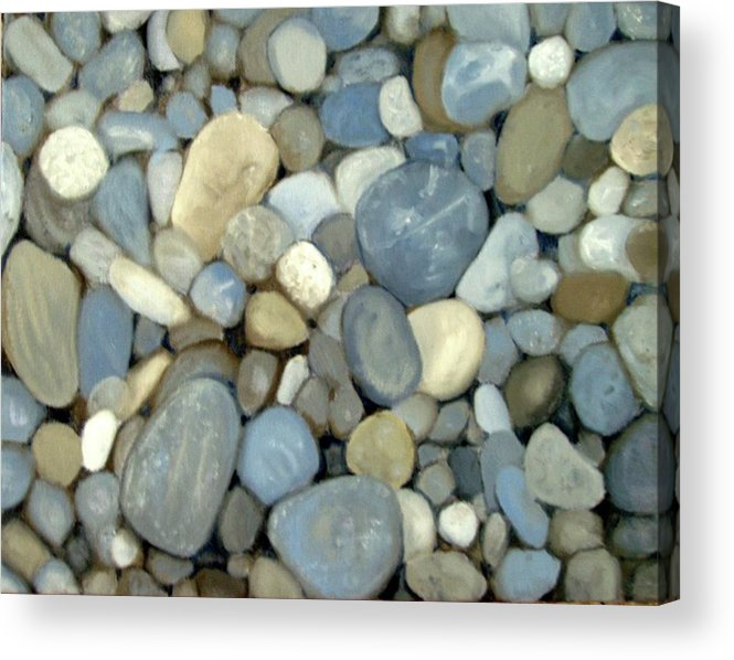 Pebbles Acrylic Print featuring the painting Southern Pebbles by Graham Keith