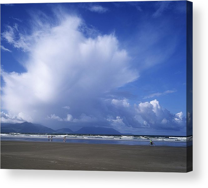 Beach Acrylic Print featuring the photograph Tourists On The Beach, Inch Beach by The Irish Image Collection