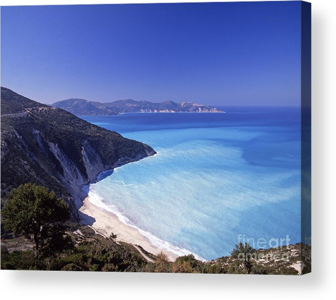 Greece Acrylic Print featuring the photograph Kefallonia Blues by Steve Outram