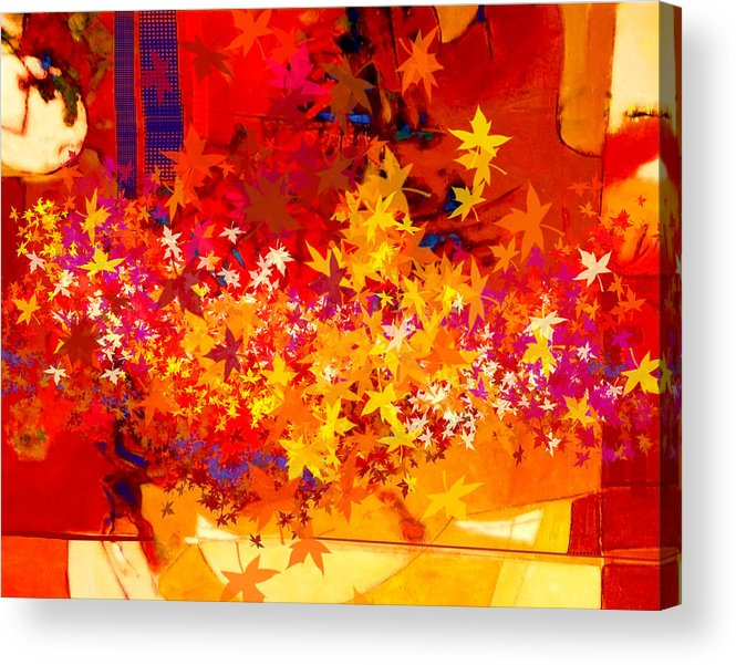 Abstract Acrylic Print featuring the painting Red Autumn by Dale Witherow