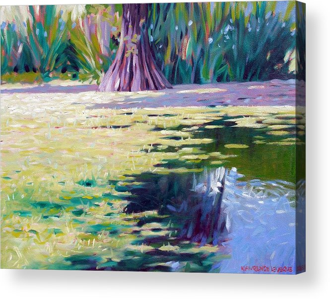 Water Acrylic Print featuring the painting Algae by Kevin Lawrence Leveque