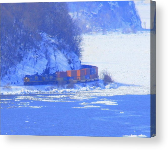 West Point Military Academy Acrylic Print featuring the photograph Csx Train by William Rogers
