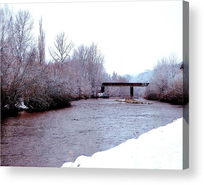 January Winter Day In England Prints Acrylic Print featuring the photograph January Winter Day In England by Ruth Housley