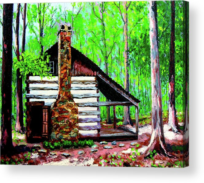 Log Cabin Acrylic Print featuring the painting Log Cabin V by Stan Hamilton