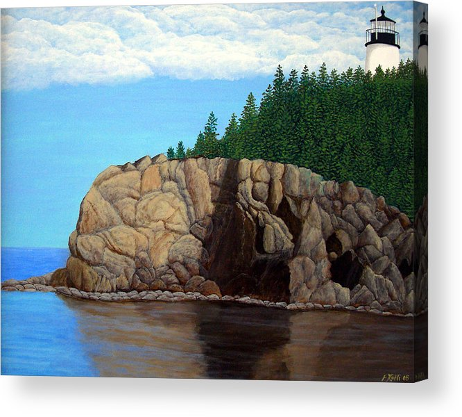 Lighthouse Paintings Acrylic Print featuring the painting Owls Head Lighthouse by Frederic Kohli
