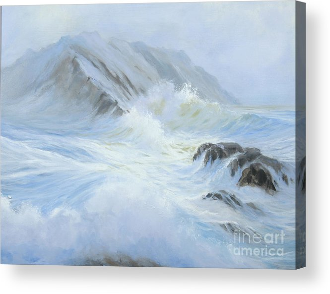 Seascape Acrylic Print featuring the painting Quiet Moment II by Glenn Secrest