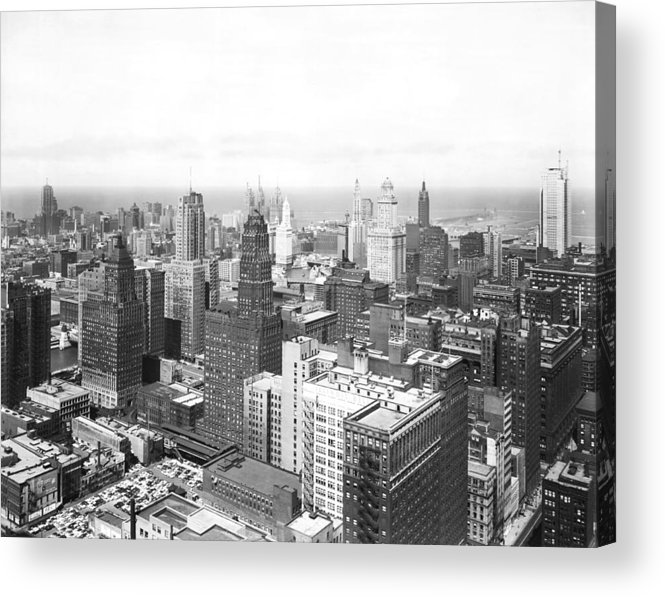 1950's Acrylic Print featuring the photograph 1955 Downtown Chicago by Underwood Archives