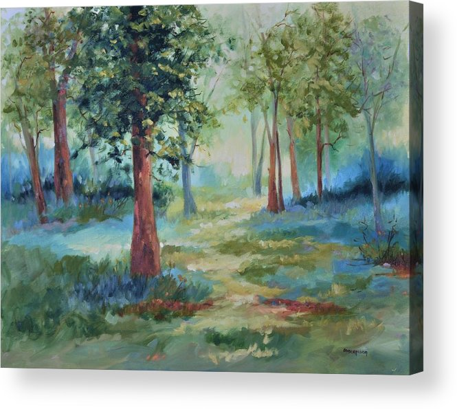 Trees Acrylic Print featuring the painting A Path Not Taken by Ginger Concepcion