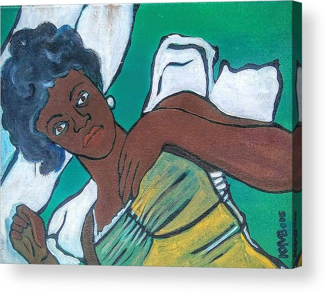 Boatride Acrylic Print featuring the painting A Place To Sleep by Kalikata MBula